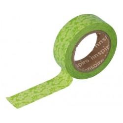 Cinta Adhesiva Washi Tape, Flores Verdes